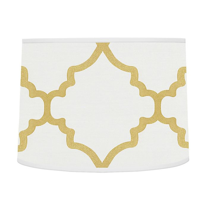 Alternate image 1 for Sweet Jojo Designs® Trellis Lamp Shade in White/Gold