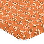 Sweet Jojo Designs Arrow Mini-Crib Sheet in Orange