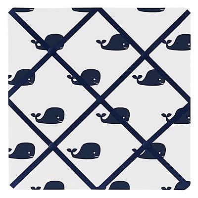 Sweet Jojo Designs Whale Memo Board in Navy/White