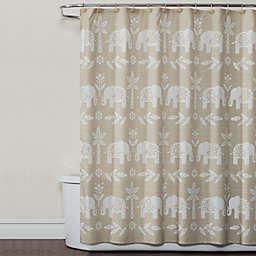 SKL Home Elephant Walk Shower Curtain in Natural