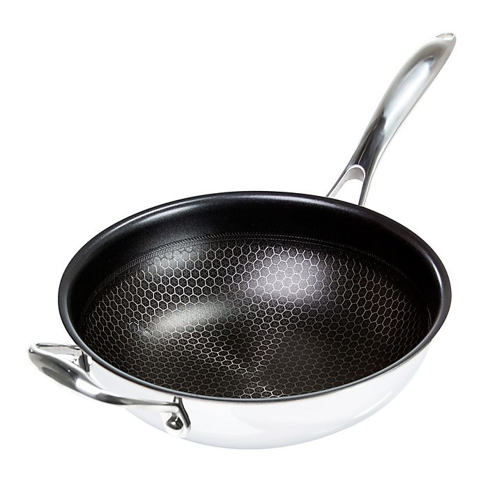 Alternate image 1 for Frieling Black Cube™ Nonstick 5 qt. Tri-Ply Stainless Steel Wok with Helper Handle