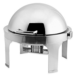 Harmony 7 qt. Stainless Steel Round Chafer with Roll-Top Cover