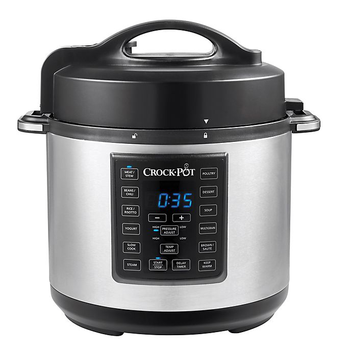 Alternate image 1 for Crock-Pot® 6 qt. Express Crock Multi-Cooker in Stainless Steel