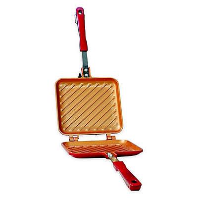 Red Copper™ Nonstick 13-1/2-Inch Aluminum Flipwich in Red