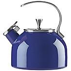 kate spade new york All in Good Taste 2.5 qt. Enameled Stainless Steel Tea Kettle in Cobalt