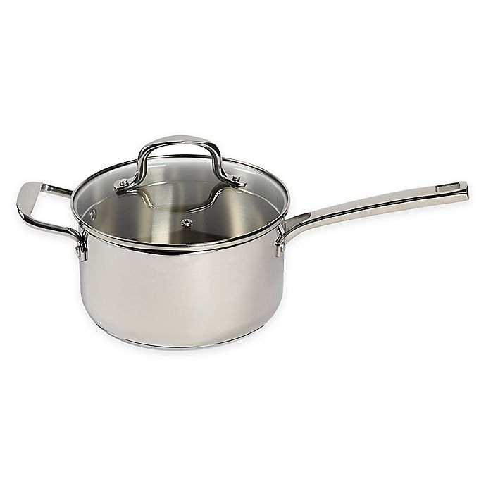Alternate image 1 for SALT™ 3.5 qt. Stainless Steel Covered Saucepan with Helper Handle