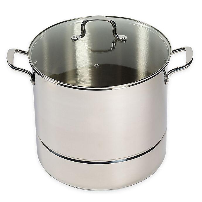 Alternate image 1 for SALT™ 3-Piece 24 qt. Stainless Steel Steamer Set