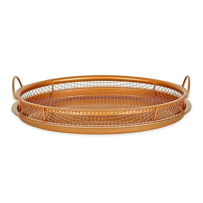 Alternate image 1 for Original Copper Nonstick 12-Inch Pan Crisper