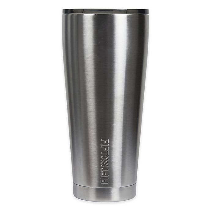Alternate image 1 for FIFTY/FIFTY 20 oz. Double Wall Vacuum-Insulated Smoke Lid Tumbler in Stainless Steel