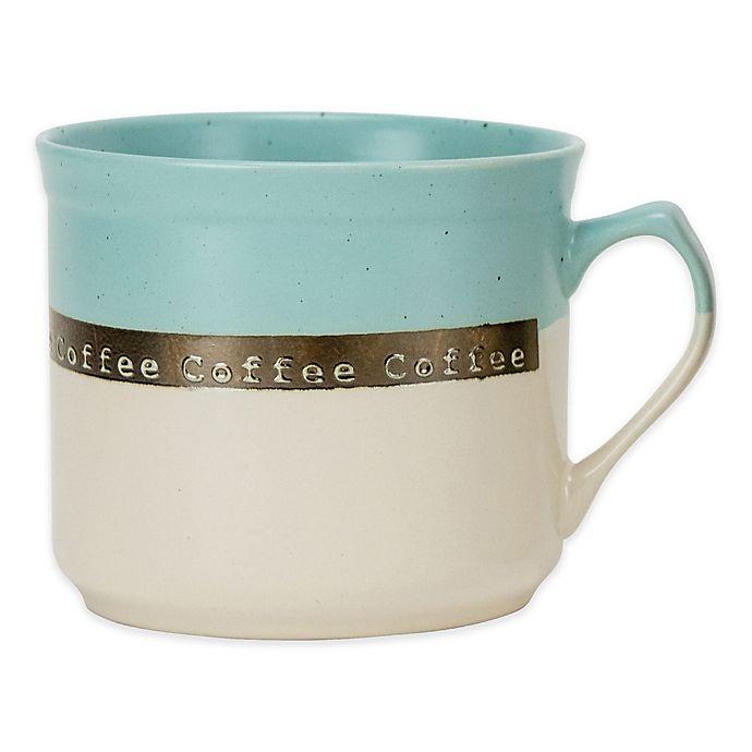 Alternate image 1 for Boston Warehouse® Banded Coffee Mug in Aqua