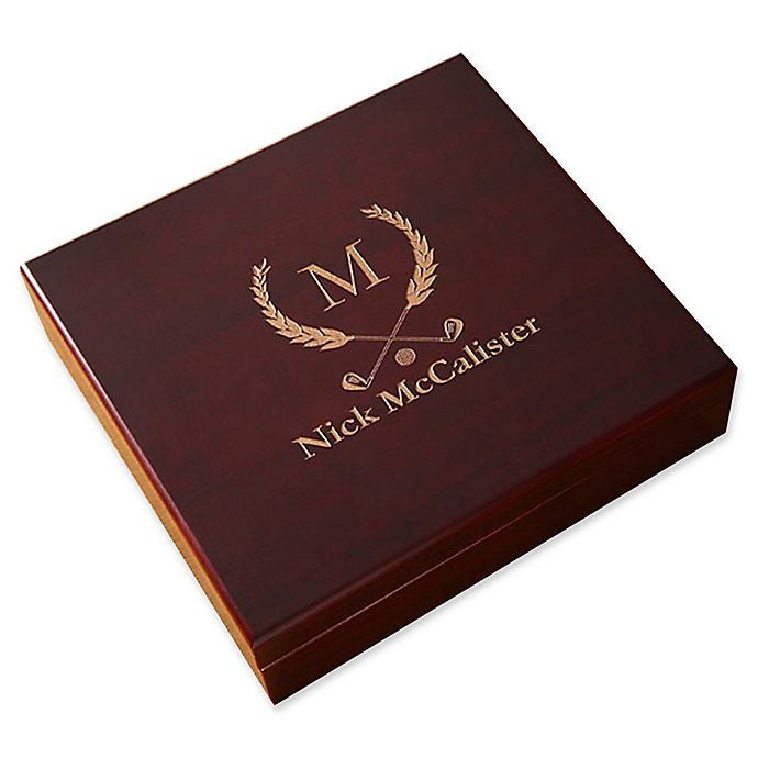 Alternate image 1 for Golf Club Wood Cigar Humidor in Cherry