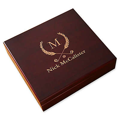Golf Club Wood Cigar Humidor in Cherry
