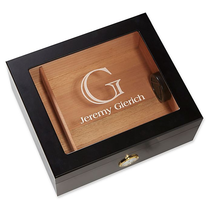 Alternate image 1 for Premium Cigar Humidor Collection in Black