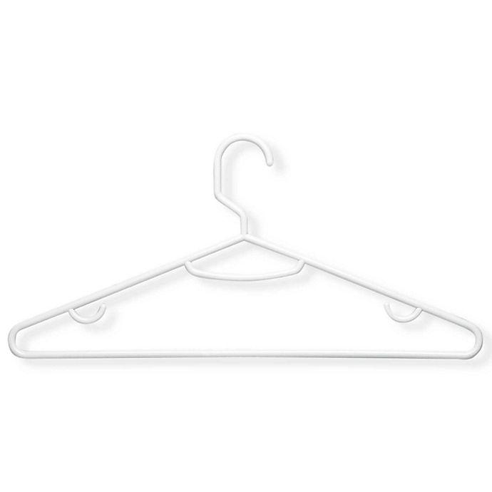 Alternate image 1 for Honey-Can-Do® 75-Pack Plastic Hangers in Brilliant White