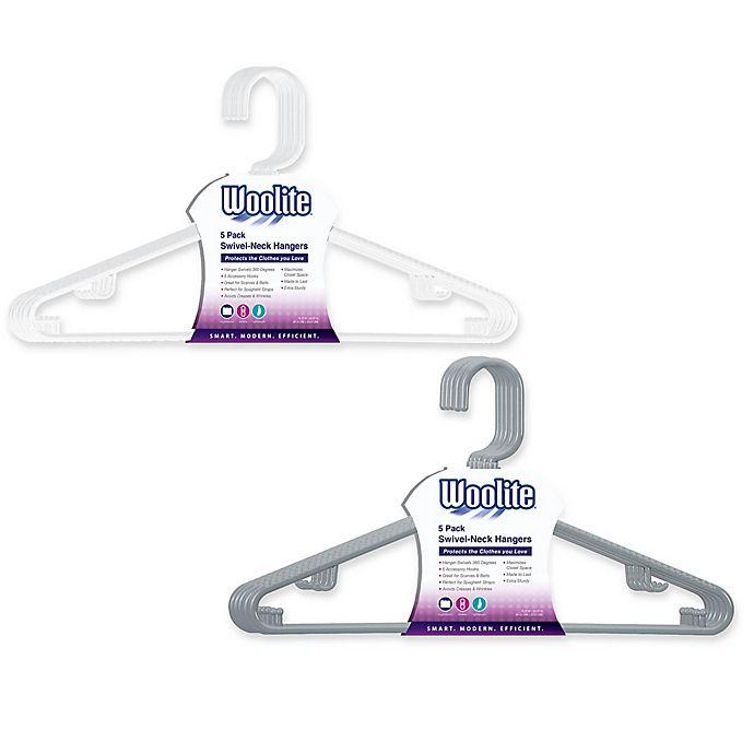 Alternate image 1 for Woolite 5-Pack Swivel Neck Hangers