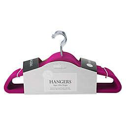 Simplify 25-Pack Slim Velvet Suit Hangers in Pink