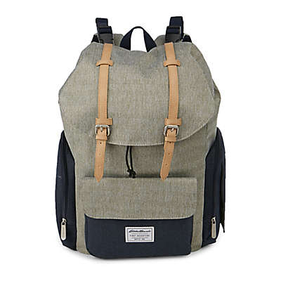 Eddie Bauer® Backpack Diaper Bag in Green/Navy