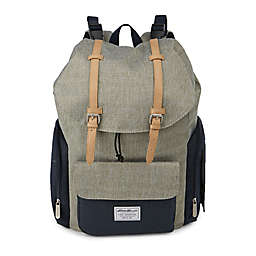 Ed Bauer Backpack Diaper Bag In Green Navy