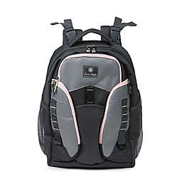 J is for Jeep® Adventures Backpack Diaper Bag in Grey/Pink