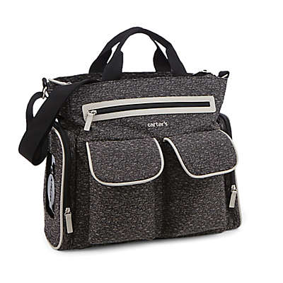carter's® Sport Tote Diaper Bag in Black/Grey Melange