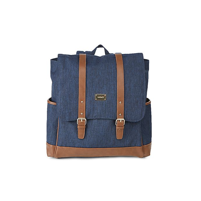 Alternate image 1 for carter's® Backpack Diaper Bag in Chambray