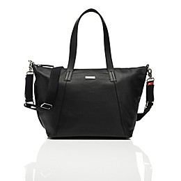 Storksak® Noa Leather Diaper Bag in Black