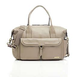 Storksak® Charlotte Leather Diaper Bag in Clay
