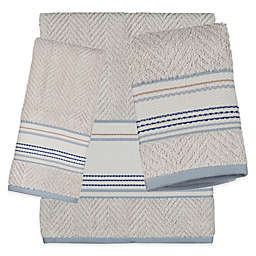 Creative Bath Ticking Stripe Bath Towel Collection
