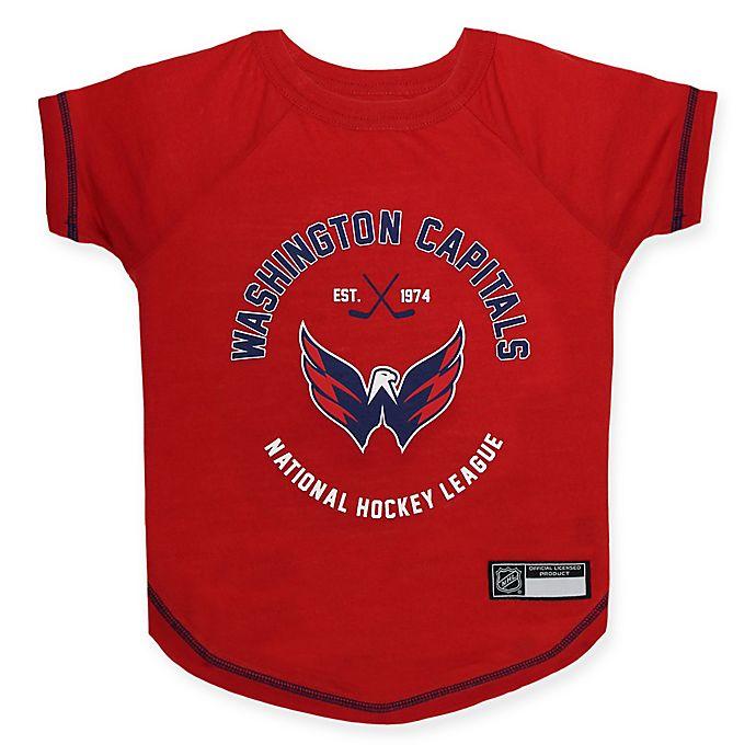 Alternate image 1 for NHL Washington Capitals X-Small Pet T-Shirt