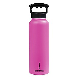 FIFTY/FIFTY 40 oz. Double Wall Vacuum-Insulated 3-Finger Grip Water Bottle