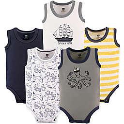 Hudson Baby® 5-Pack Sleeveless Bodysuits in Black