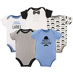 Hudson Baby® 5-Pack Gentleman Bodysuits in Blue/Black