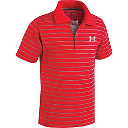 Under Armour® Striped Polo Shirt in Red