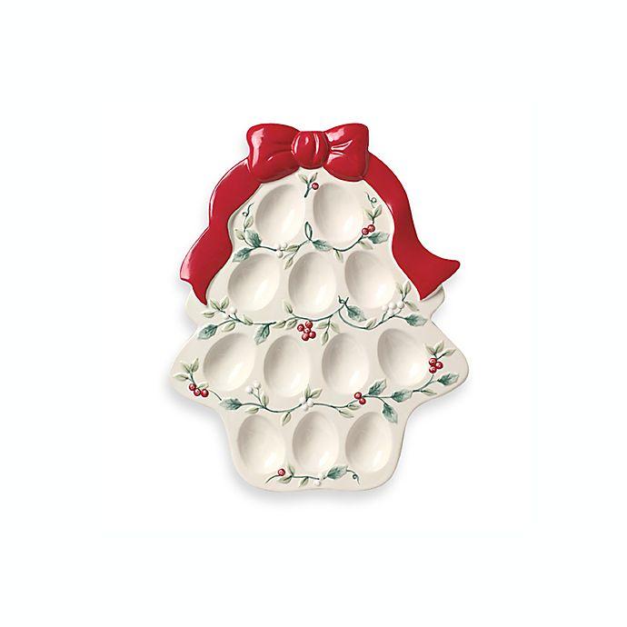 6879b5d350f Pfaltzgraff® Winterberry Sculpted Deviled Egg Plate | Bed Bath & Beyond