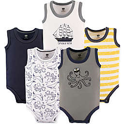 Hudson Baby® Size 9-12M 5-Pack Sea Sleeveless Bodysuits in Blue