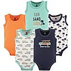 Hudson Baby® Size 6-9M 5-Pack Beach Sleeveless Bodysuits in Orange