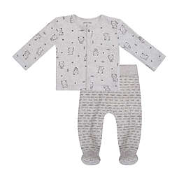 Petit Lem™ Size 6M 2-Piece Bear Cardigan and Legging Pant Set in Grey