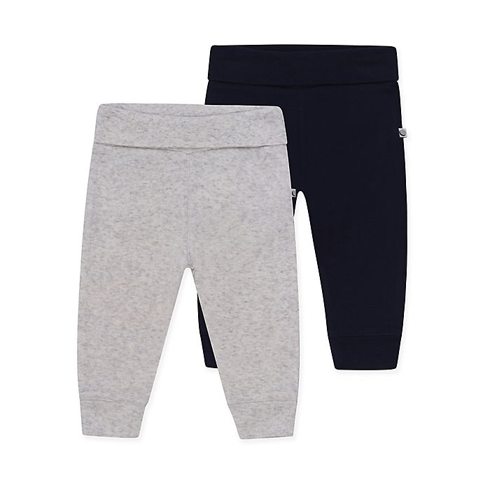Alternate image 1 for Petit Lem™ 2-Pack Organic Legging Set in Grey/Navy