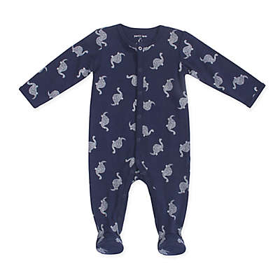 Petit Lem™ Dino Footie in Navy