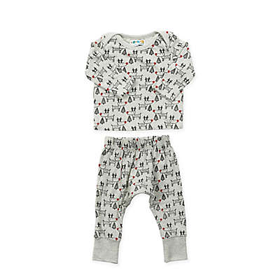 Coyote and Co. 2-Piece Reindeer Pajama Set
