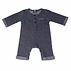 Troy James Size 6-9M Rolled Sleeve Coverall in Blue