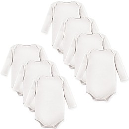 Luvable Friends® 7-Pack Long Sleeve Bodysuits in White