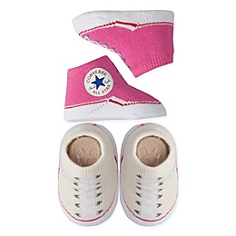 Converse 2-Pack Chuck Booties in Pink/Cream
