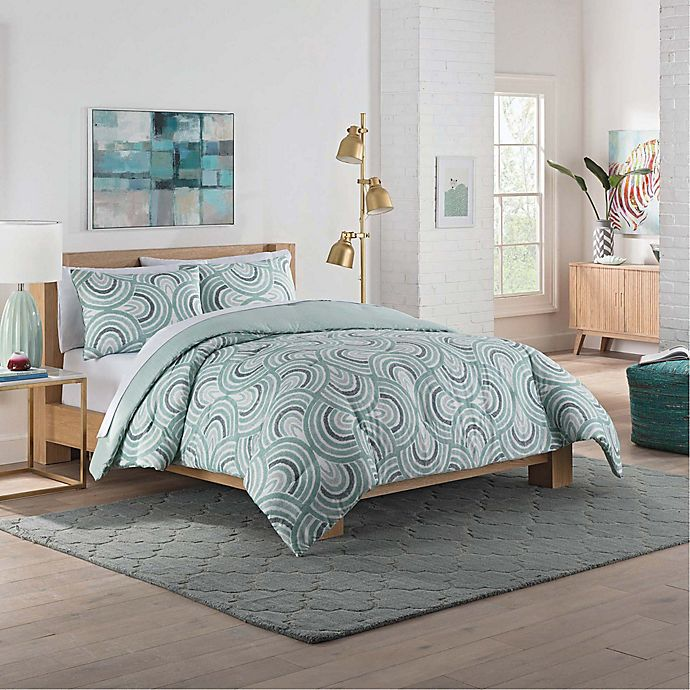 Alternate image 1 for Vue® Frenchy Reversible Queen Comforter Set in Sage