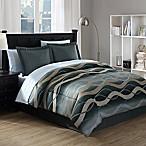 Convergence 6-Piece King Comforter Set in Black/Gold