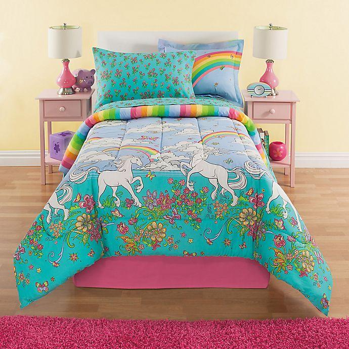 Alternate image 1 for Kidz Mix Unicorn Reversible Comforter Set