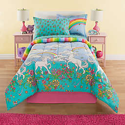 Kidz Mix Unicorn 6-Piece Reversible Twin Comforter Set in Teal/Pink