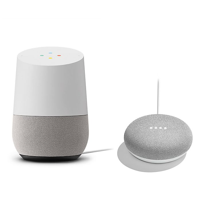 Alternate image 1 for Google Home with Google Home Mini in Chalk Bundle