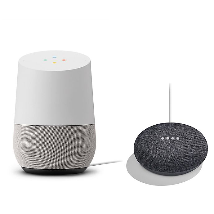 Alternate image 1 for Google Home with Google Home Mini in Charcoal Bundle