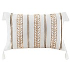 INK+IVY Stella Dot Beaded Rope Oblong Throw Pillow in White
